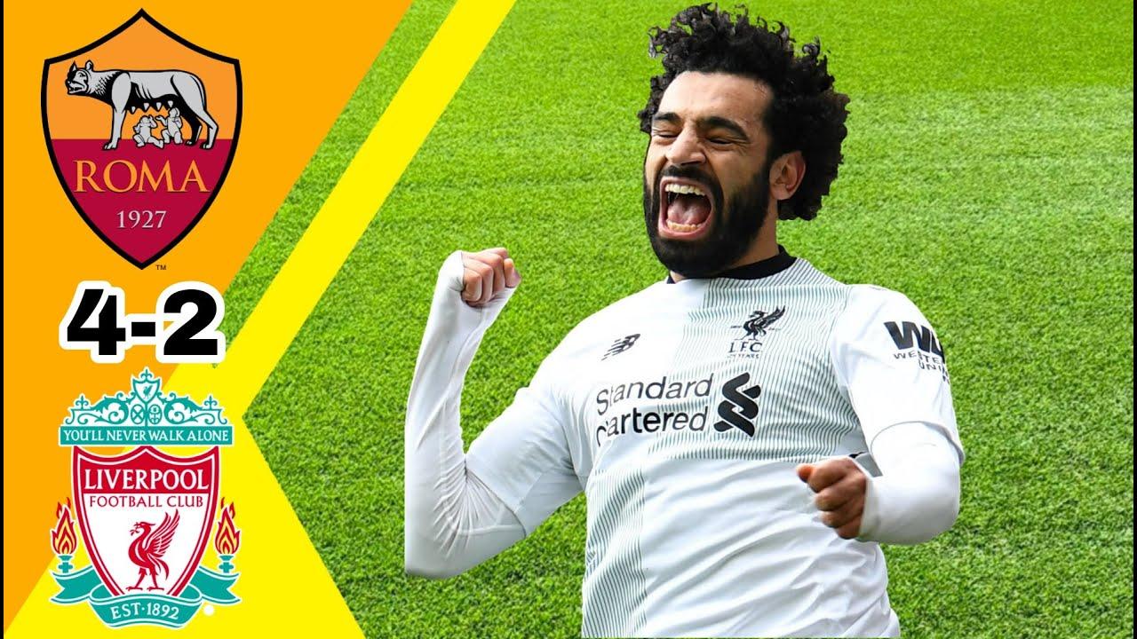 مباراة مجنونة/ روما ~ ليفربول 4-2 نصف نهائي دوري ابطال اوروبا 2018 وجنون  الشوالي جودة عالية 1080i
