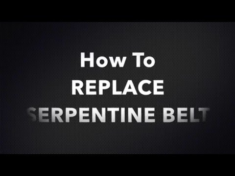 HOW TO REPLACE SQUEAKY SERPENTINE BELT HONDA RIDGELINE