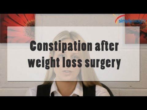 How to get over constipation after weightloss surgery?