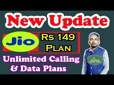 Jio revises plans, Rs 149 recharge to now give you Unlimited Calling And Data Plans || Jio || Jio 4G