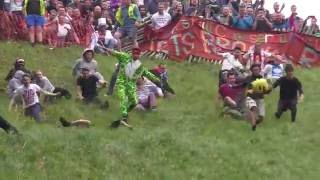 Cheese Rolling at Cooper's Hill, Gloucestershire - 2016