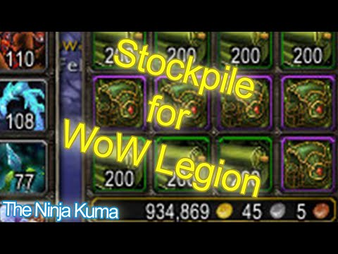 World of Warcraft 6.2.3 to 7.0 How to Stockpile and Prepare for WoW Legion with Tailoring