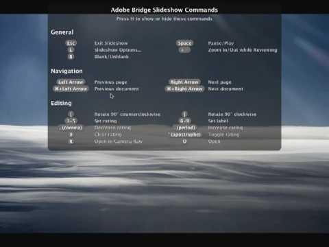 Creating a Slideshow in Adobe Bridge by Julieanne Kost