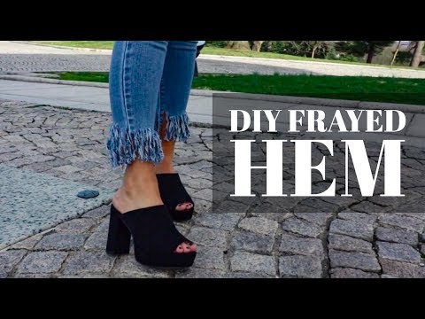 HOW TO | DIY Frayed Hem Jeans