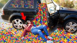 Download Ball Pit PRANK in my Twin Sister's Car! Video