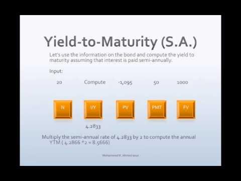 Bond Semi-annual Yield-to-Maturity