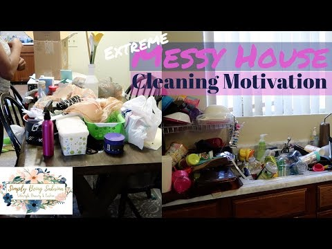 Extremely Satisfying Messy House Cleaning Motivation / Clean With Me / Realistic Speed Cleaning /
