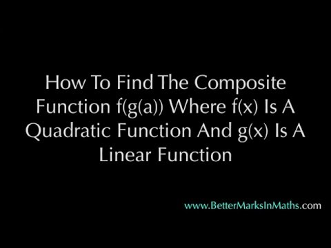 Composite Functions - how to find fog - VCE Maths Methods Unit 3 & 4