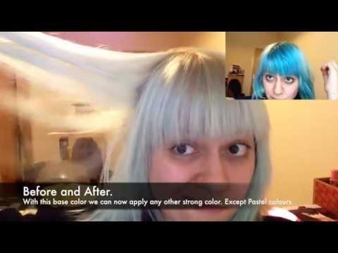 HOW TO STRIP OUT BLUE HAIR. Bleach bath