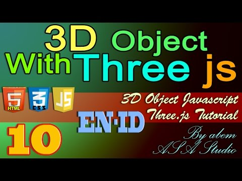 3D Object With Three Js, 10, Import 3D Object with JSON, Javascript Tutorial