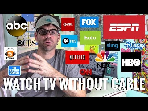 HOW TO CUT THE CORD: How We Cut Out Cable & Satellite & Still Watch Everything - Including SPORTS!