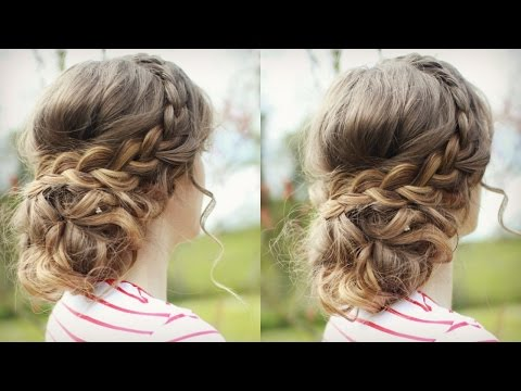 DIY Curly Updo with Braids | Messy Updo Prom | Braidsandstyles12