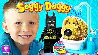 SOGGY DOGGY! 🐕 🐶 BATMAN + HobbyBear Opens Giant Eyeball Surprise, Family Fun HobbyKidsTV