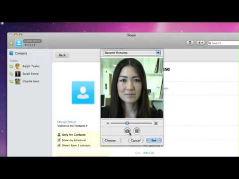 How to change your Skype profile - Mac