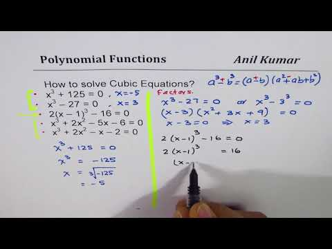 How to solve cubic polynomial equations by factoring and division