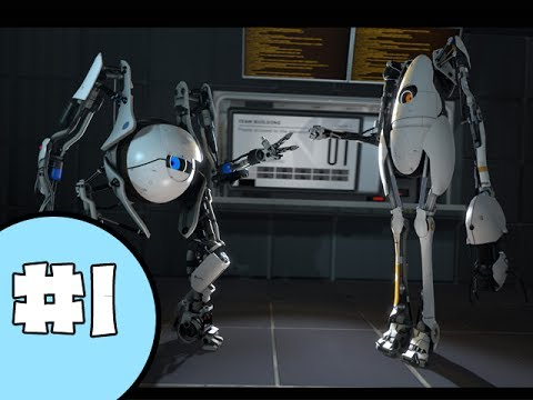 Let's CO-Play Portal 2 - Part 1 (Gameplay & Commentary) W/Blitzwinger & Gamer