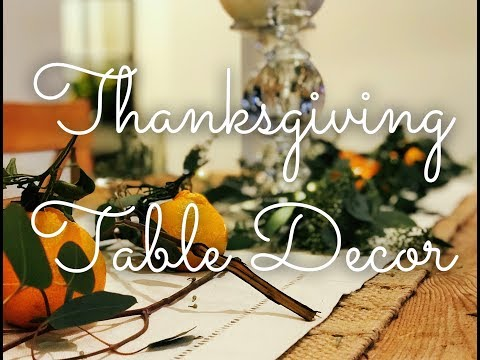 Cheap and Chic Thanksgiving Table Decor! Make your home look festive on a budget!