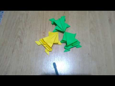 ORİGAMİ: HOW TO MAKE A PAPER FLOG? (ORİGAMİ KURBAĞA YAPIMI)