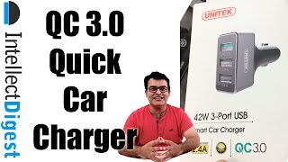 Best QC 3.0 Fast Car Charger- Unitek Car Charger Unboxing And Hands On | Intellect Digest