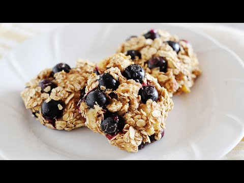 Healthy Blueberry Breakfast Cookie Recipe