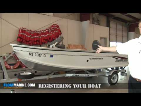 Boat parts - Registering Your Boat