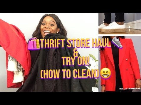 Thrift Store Haul & Try On! (How To Clean Used Items)