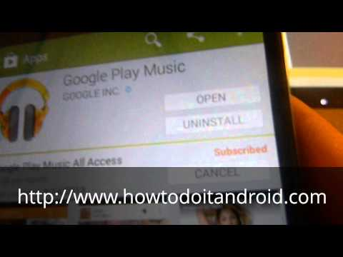 How to cancel Google music subscription