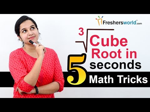 Aptitude Made Easy - How to solve cube root in seconds? - Math tricks and shortcuts
