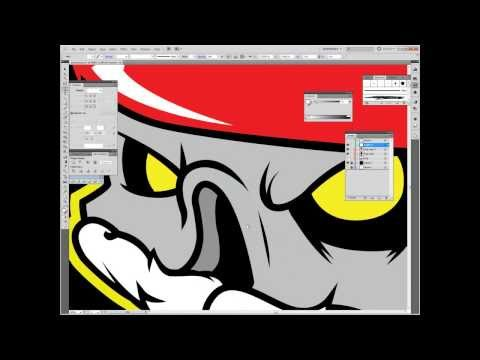 Inking and Coloring in Adobe Illustrator CS5 ( Jeep Club Logo )