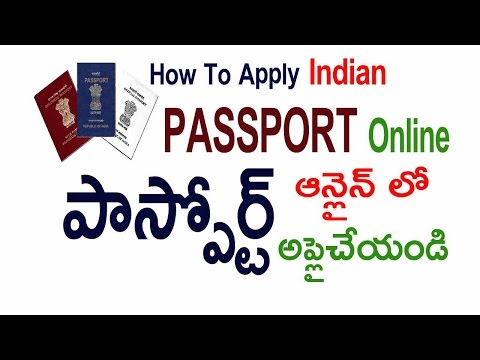 How to Apply Passport Online Indian Passport Tutorial in Telugu
