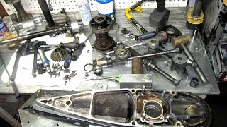 Part 2 - OMC repair - How to remove lower unit from OMC Cobra