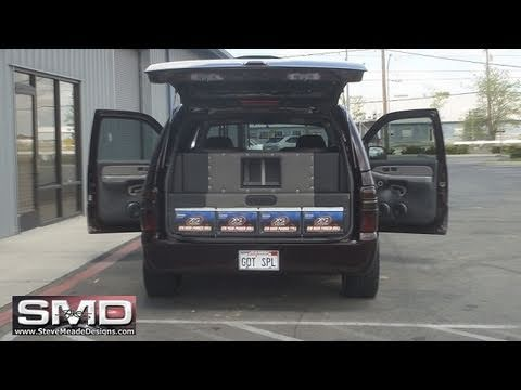 Extremely LOUD and CLEAN Car Audio - 4 18's 30,000 watts on ROCK - DOWN II