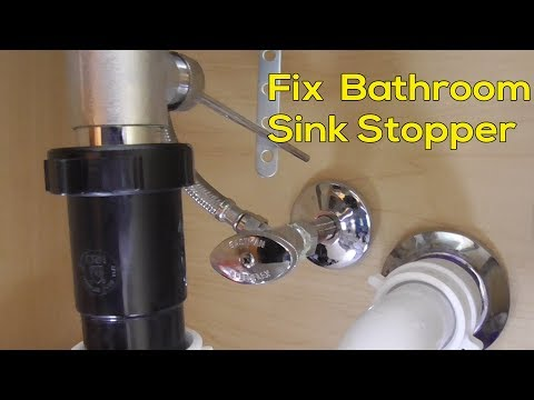 How to fix stopper in Bathroom sink Quick and Easy