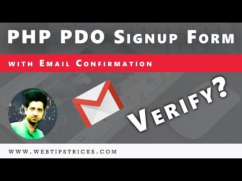 (13/26) PHP PDO Signup Form With Verification Email Already Exist Email In Urdu/Hindi