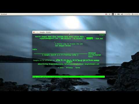 How to browse Internet Via Terminal(Ubuntu)