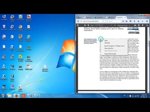 How to copy text from secured pdf