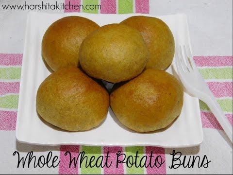 Whole Wheat Potato Buns/ Masala Buns Recipe
