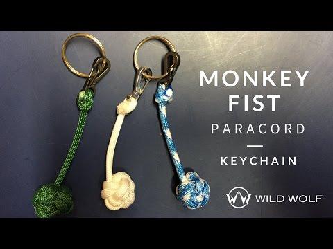 Monkey Fist Paracord Keychain - No Ball - Globe Knot