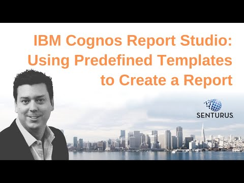 IBM Cognos Report Studio: Using Predefined Templates to Create a Report