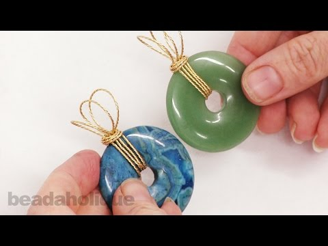 How to Wire Wrap a Bail for Gemstone Donuts