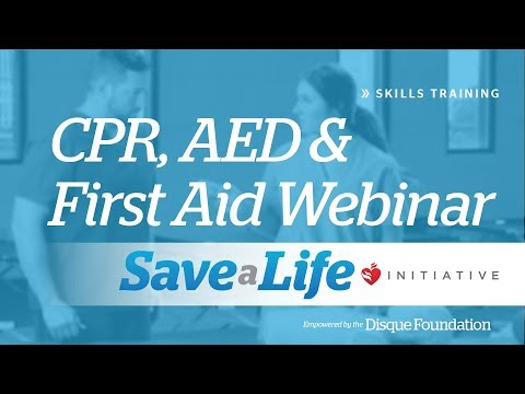 CPR, AED and First Aid Webinar