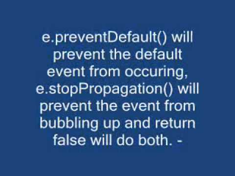 event.preventDefault() vs. return false