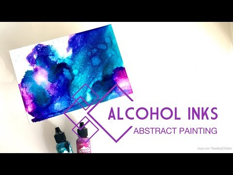 Painting with Alcohol Inks | Ampersand Claybord