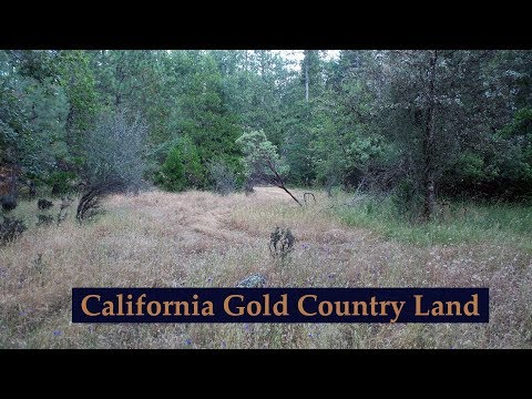 Land for sale in the Gold Country of California