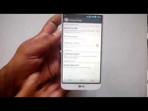 How to Reset LG G2 to Factory Settings