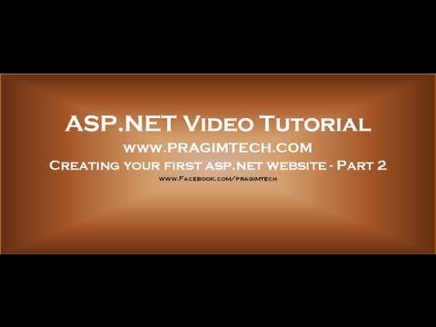 Creating ASP.NET website   Part 2