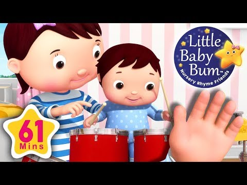 Finger Family | Baby Version | Plus More Nursery Rhymes | 61 Minutes Compilation from LittleBabyBum!