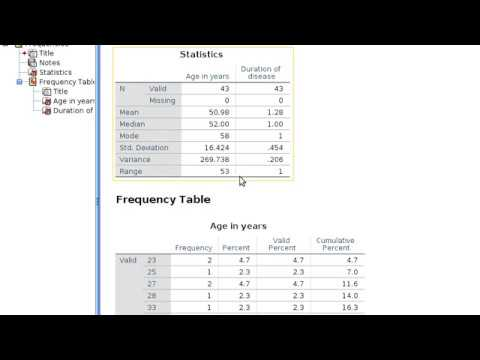 How to calculate Mean, Median Mode  Descriptive Statistics using SPSS