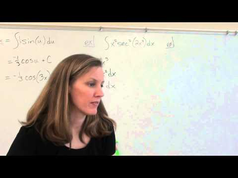 Price AP Calculus AB - 4-5a - U-substitution with indefinite integrals