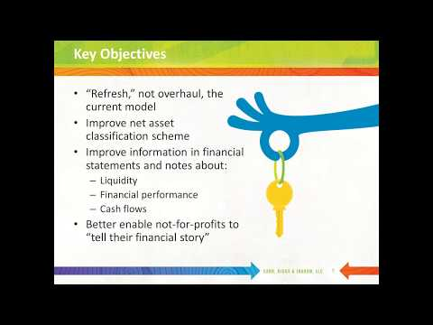 CRI Webinar: Exploring the Rhyme and Reason of the New Nonprofit Financial Reporting Standard